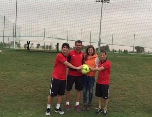 Football Medicine team with Simona Halep