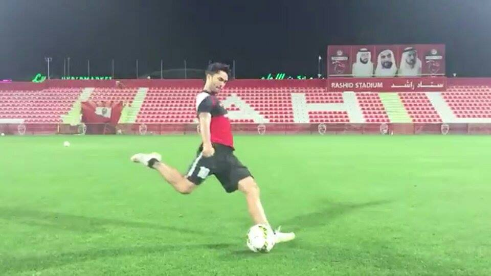 Soccer kick at Al Ahli Club