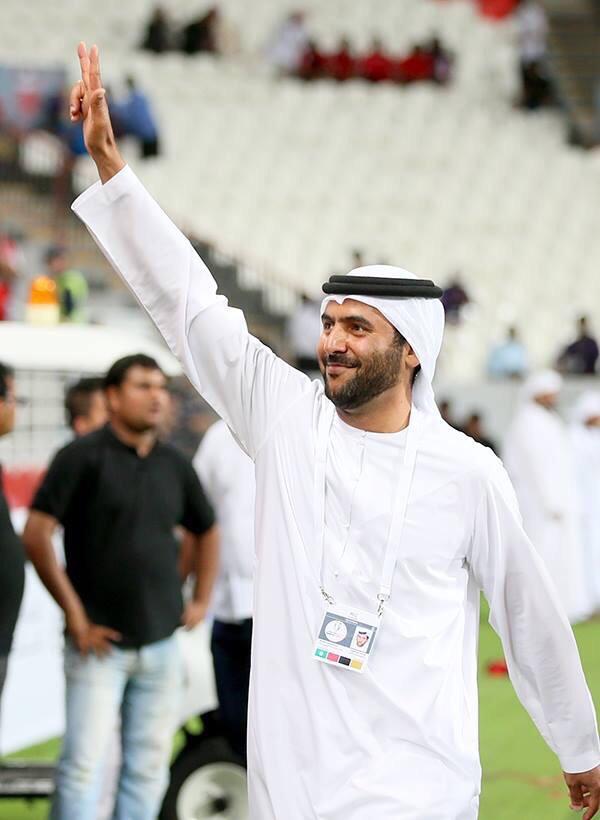 Al Ahli Club President Abdullah Saeed Al Naboodah after the winning